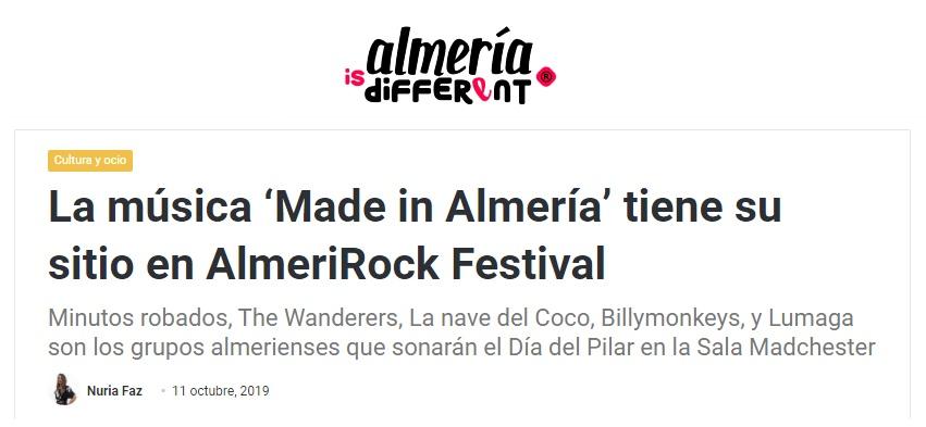 AlmeriRock en medios de comunicación Almería is different