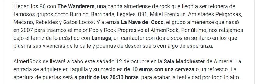 AlmeriRock Almería is different