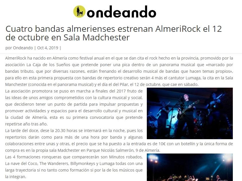 AlmeriRock en medios de comunicación ondeando.org